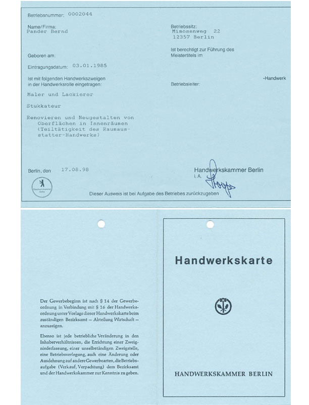 Gewerbeaufsichtsamt Berlin leistunden malermeister pander berlin brandenburg